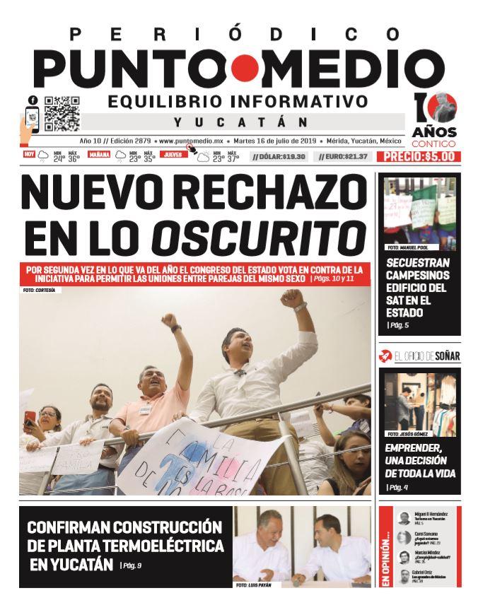Edición impresa martes 16 de julio de 2019