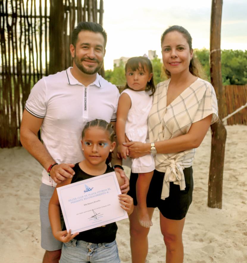 Rolando Basora León, Mía Basora Briceño, Victoria Basora Briceño y Olga Briceño Uribe