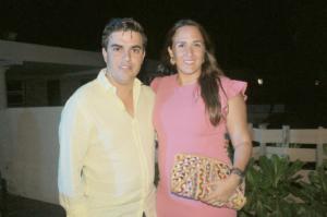 Roberto Germon Pinelo y Cristina Buenfil
