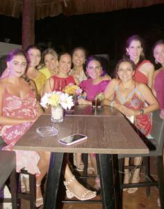 La festejada con algunas de sus amigas