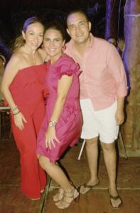 Layda Budip, Regina Castellanos y César Mena