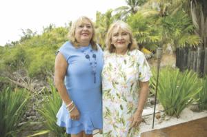 Lizbeth Irabién viuda de Castilla y Minelia Rodríguez Villajuana