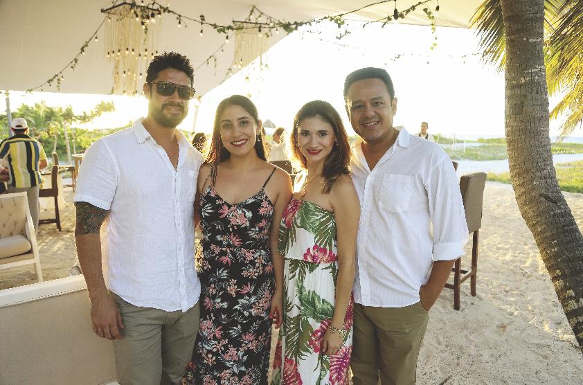 Eduardo Marrufo, Andrea Kantún, Karla Puerto y Alejandro Rentería