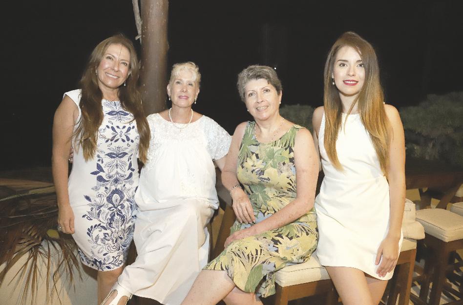 Sofía Marquez, Laura Palazuelos, Paulina Etchegaray y Natalia Sofía Moguel Márquez