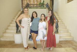 Claudina Canto, Andrea Castillo, Patricia Amaya, Mar González, Susana Lizarraga, Nathaly Amato, Elizabell Espadas y Rosana Millán