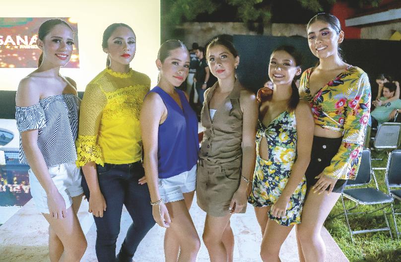Fabiola Martínez, Jimena Roche, Andrea Rosado, Alicia Rosado, Dafne Xacur y Montse Mézquita