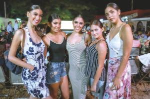 Ivana Espinoza, Daniela Alcaraz, Graciela Izquierdo, Ana Paola Poot y Valeria Vignola