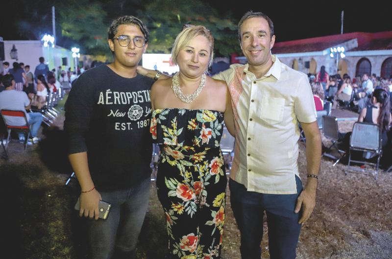 Mario Beltrán, Rosa Polanco Vivas y Jorge Rodríguez Prieto