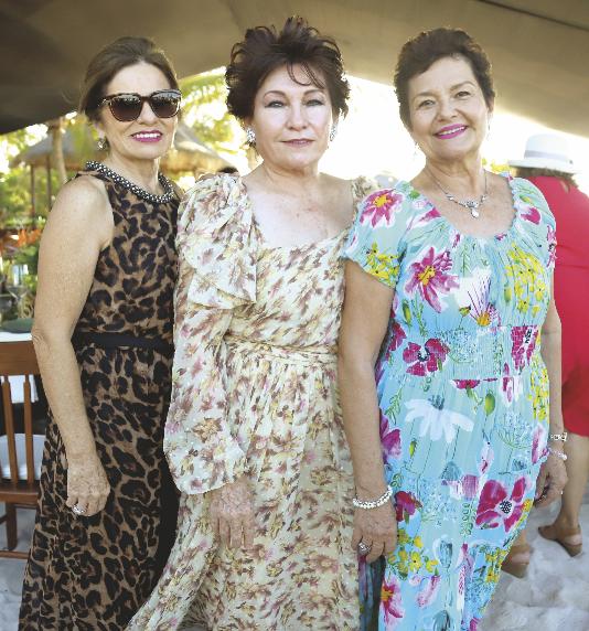 Georgina Vargas Marzuca, Leticia García Maldonado y Rosy Franco de García