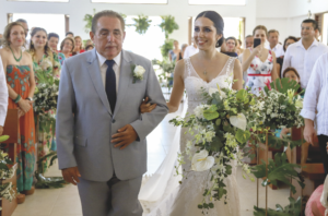 Delfio José Conde Narváez y la novia, Hilda María Conde Salomón