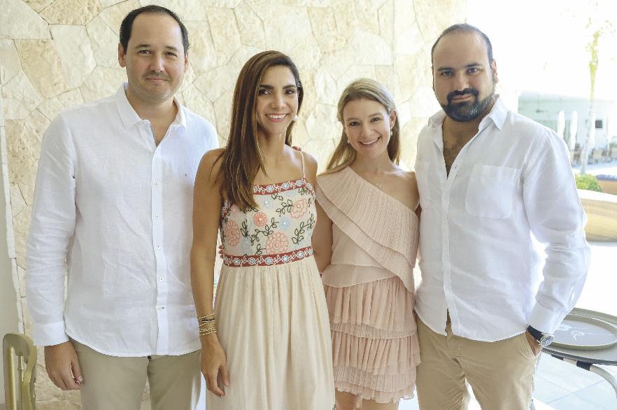 Rodrigo Millet, Cynthia Vázquez de Millet, Ana Paula Ramírez y Édgar Ramírez
