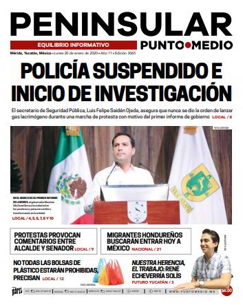 Edición impresa del lunes 20 de enero de 2020