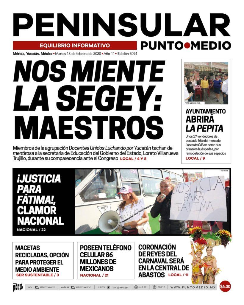 Edición impresa Martes 18 de febrero de 2020