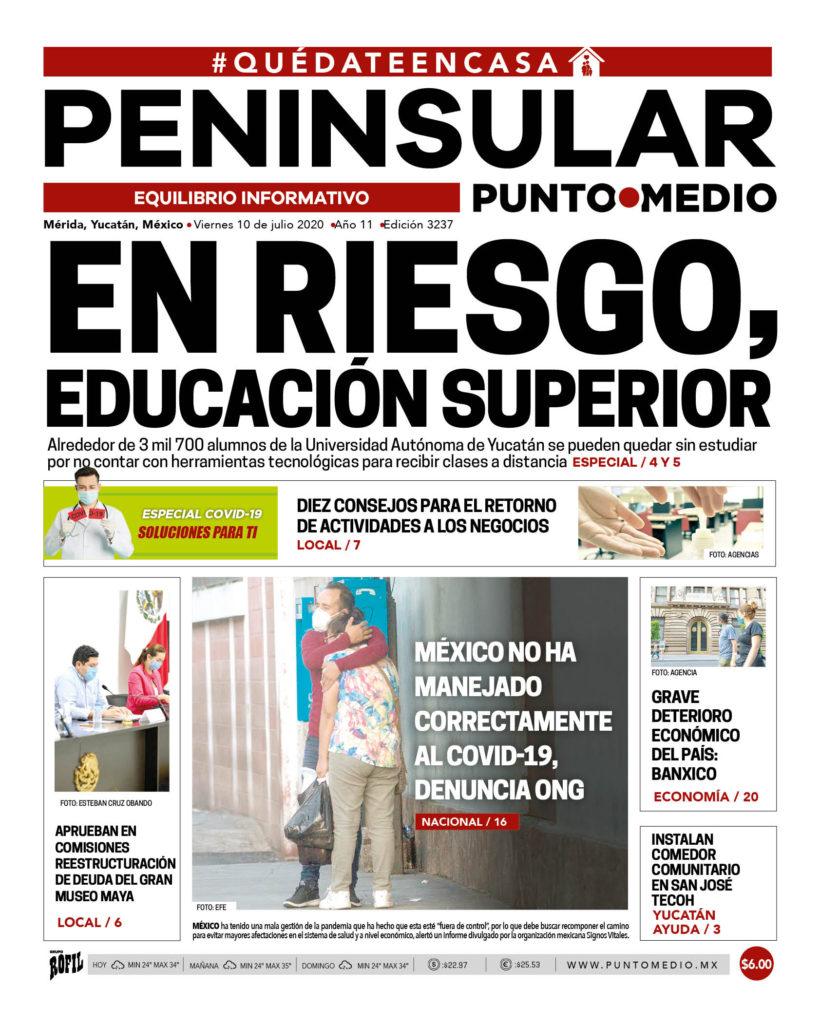 Edición impresa viernes 10 de julio de 2020