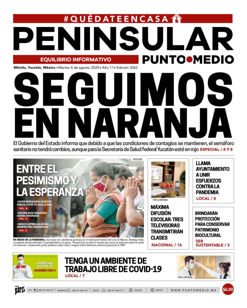 Edición impresa martes 4 de agosto de 2020