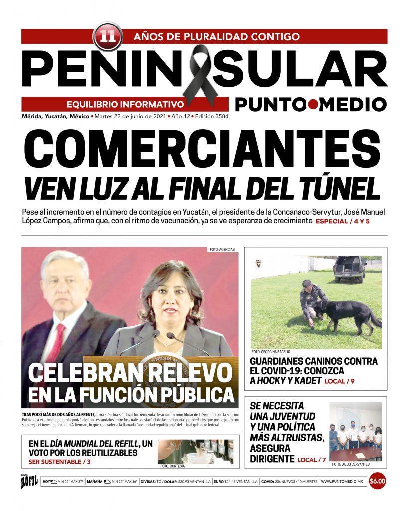 Edición impresa del martes 22 de junio del 2021